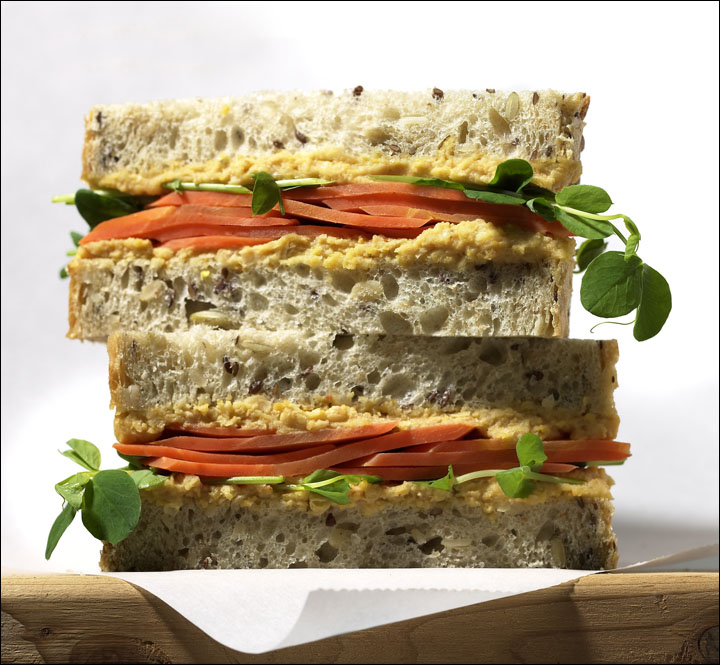 Peas and Carrots Sandwich